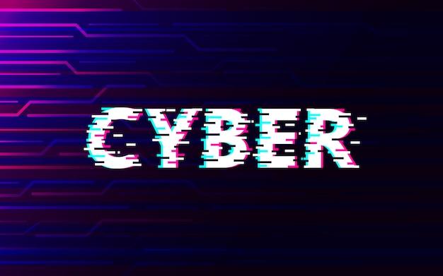 Cyberstörschub auf abstraktem technologiezukunftsschnittstellen-hud hintergrunddesign.