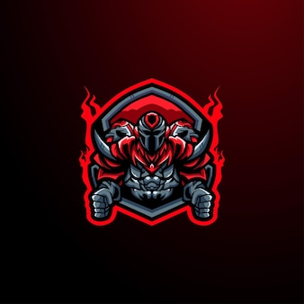 Cyborg e-sport logo maskottchen gaming
