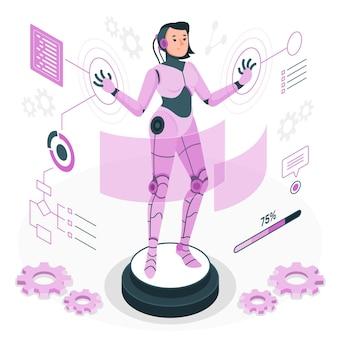Cyborg-konzeptillustration