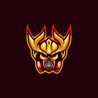 Cyborg mask logo