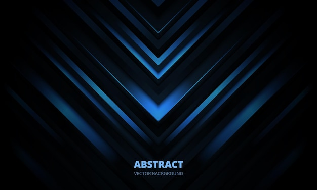 D moderner dunkelblauer futuristischer abstrakter geometrischer hintergrund