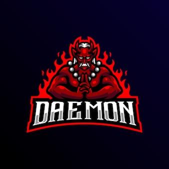 Daemon maskottchen logo esport spiel