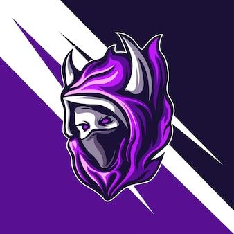 Dämonen-attentäter-maskottchen für logo-spiele oder andere