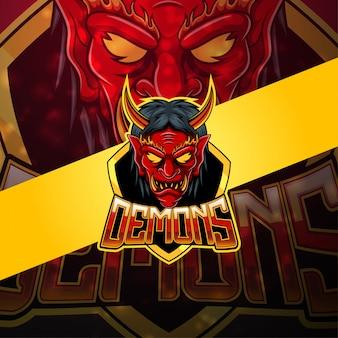 Dämonen esport maskottchen logo