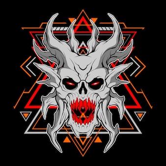 Dämonenmaske mit heiliger geometrie für den kommerziellen einsatz