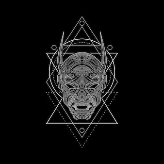 Dämonenmasken-geometriestil