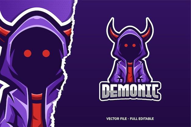 Dämonische e-sport logo vorlage