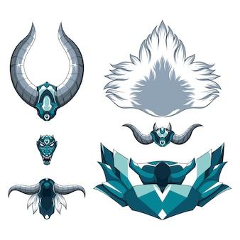 Dämonisches monster des drachen