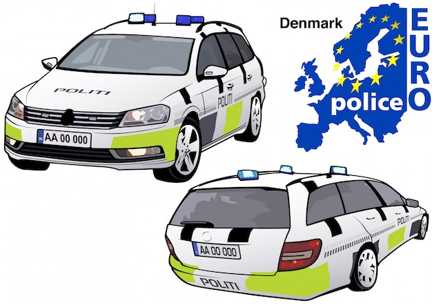 Dänisches polizeiauto