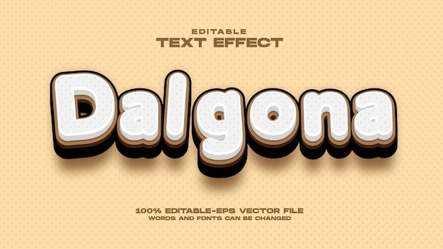 Dalgona coffee text-effekt