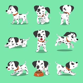Dalmatiner hund der vektorzeichentrickfilm-figur wirft auf