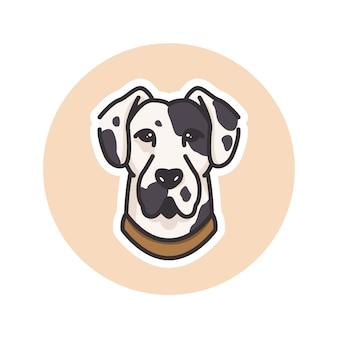 Dalmatinische hundemaskottchenillustration, perfekt für logo oder maskottchen