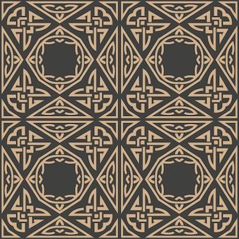 Damast nahtlose retro-muster hintergrund aboriginal triangel geometrie kreuzrahmenkette.