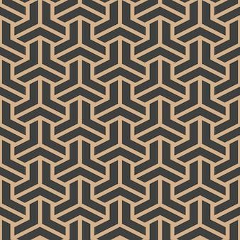 Damast nahtlose retro-muster hintergrund dreieck geometrie polygon kreuzrahmen kettenlinie.
