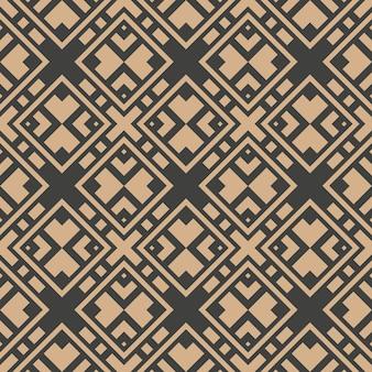Damast nahtlose retro muster hintergrund geometrie überprüfen quadratischen kreuzrahmen kaleidoskop.