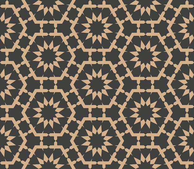 Damast nahtloses retro muster hintergrund polygon geometrie stern kreuz blumenrahmen kaleidoskop.