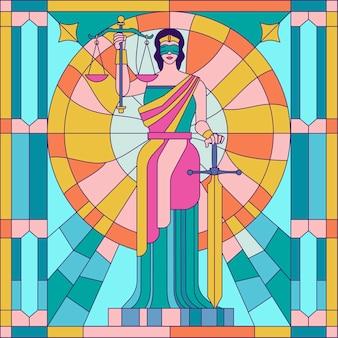 Dame der gerechtigkeit femida oder themis