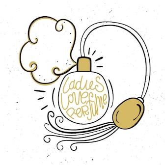 Damen lieben parfüm