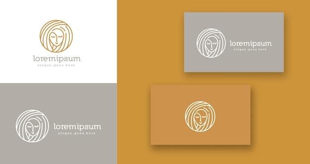Damen spa minimalistisches logo feminin