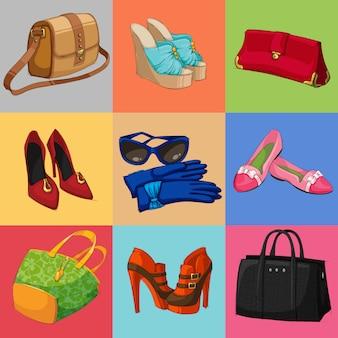 Damen taschen schuhe und accessoires kollektion