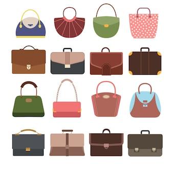 Damen- und herrenhandtaschen.