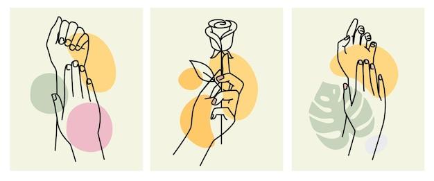Damenhände mit eleganter maniküre