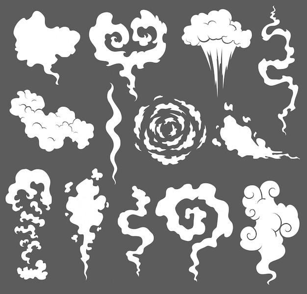 Dampfrauchwolken von zigaretten