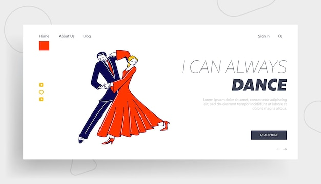Dance leisure, sparetime, performance oder hobby landing page template.