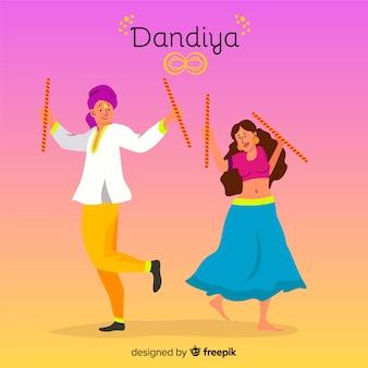 Dandiya-hintergrund mit farbverlauf