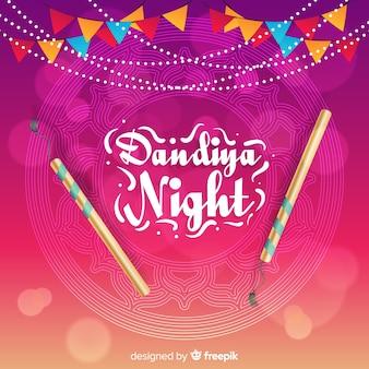 Dandiya Nacht mit Stöcken