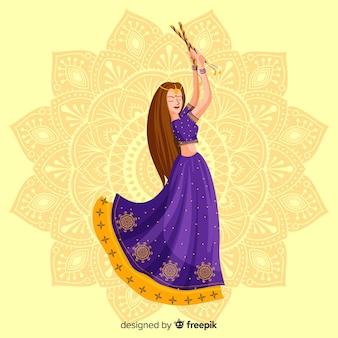 Dandiya tänzerin