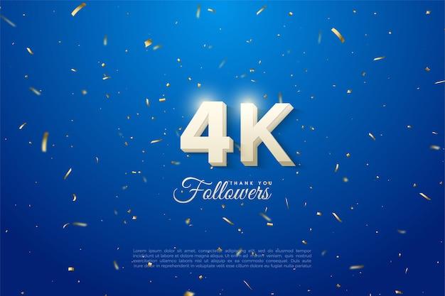 Dank 4k followern die glänzenden figuren