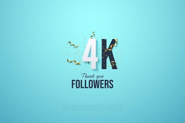 Dank der 4k follower zahlen und festlichkeiten