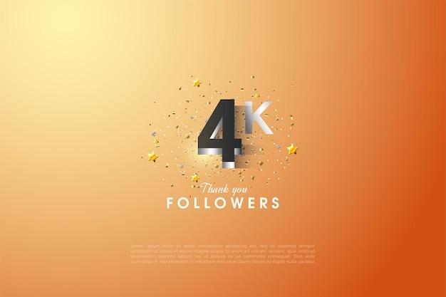 Dank der leuchtend versilberten figur 4k follower