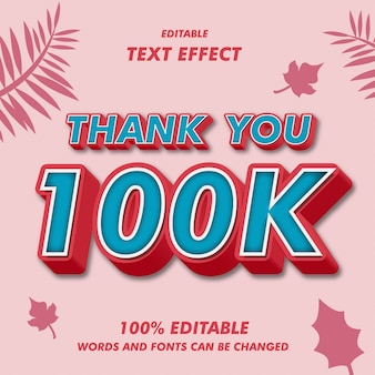Danke 100.000 text-effekte