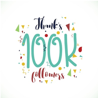 Danke 100k followers logo