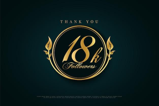 Danke 18k follower mit grünem und grünem kreis