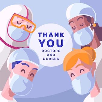 Danke ärzten und krankenschwestern
