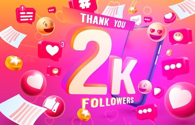 Danke follower peoples k online social group happy banner feiern vektor