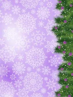 Danke karte auf einer hellen weihnachtskarte.