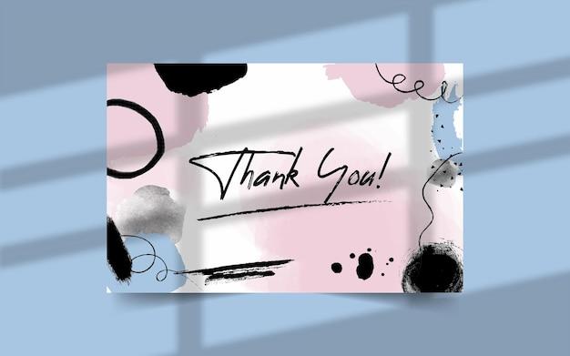 Dankeskartenvorlage