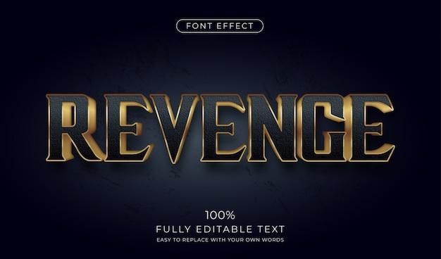 Dark gold 3d texteffekt. bearbeitbarer schriftstil