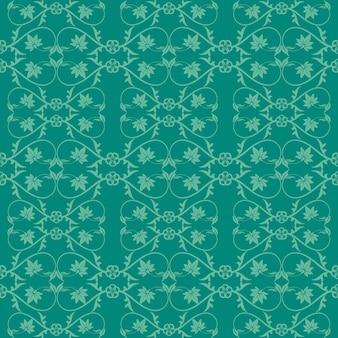 Dark kelly ornamental hintergrund mit grün & jade