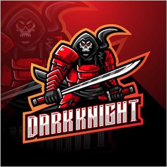 Dark knight maskottchen logo