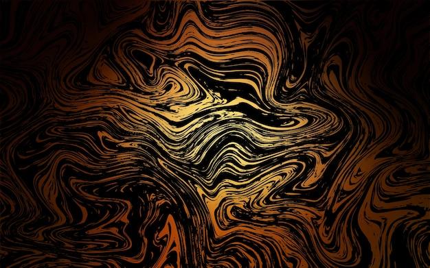 Dark orange vektor hintergrund mit geschwungenen kreisen
