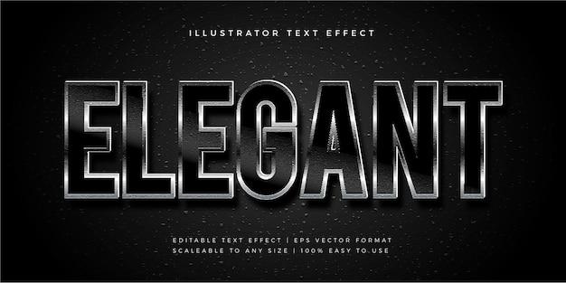 Dark shiny elegant texture text style schriftart-effekt