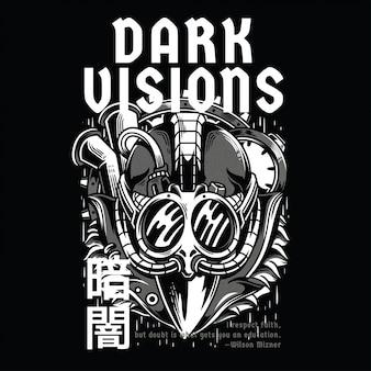 Dark visions black and white
