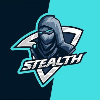 Darkness stealth killer e-sport maskottchen logo