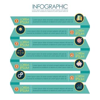 Darstellung der bandschrittschablone infographic