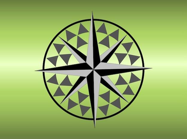 Darstellung einer windrose